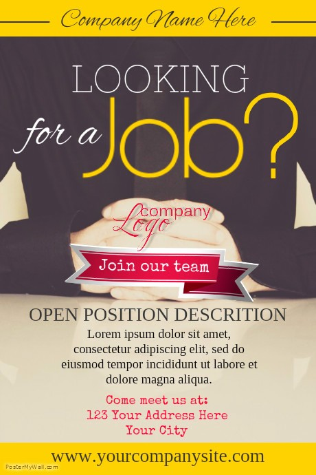 Now Hiring Sign Template Free Lovely Hiring Poster Template