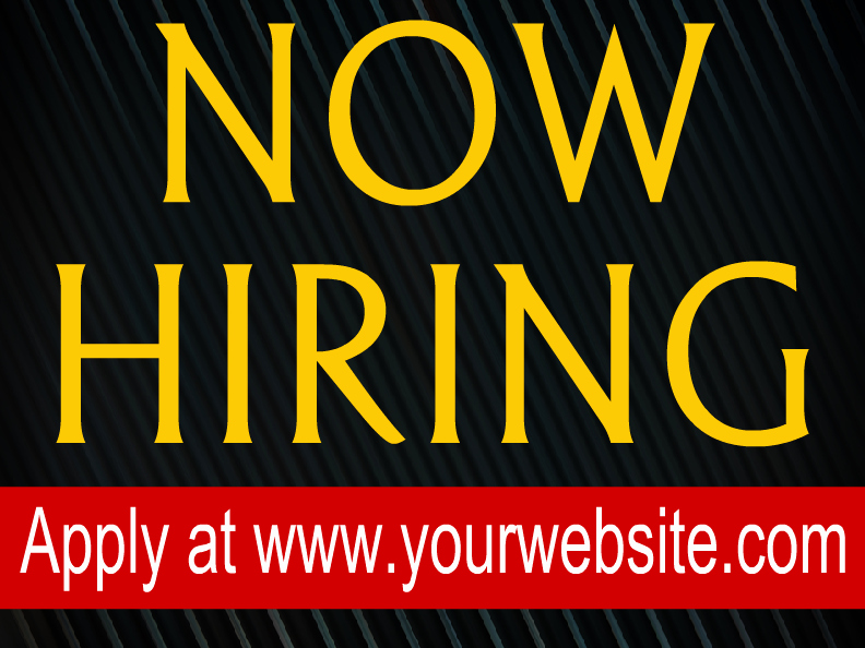 Now Hiring Sign Template Free Unique now Hiring Templates