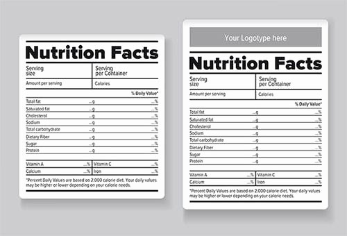 Nutrition Facts Label Template Excel Awesome Blank Nutrition Label Template Excel Nutritional Labels