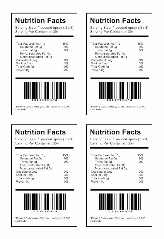 Nutrition Facts Label Template Excel Awesome Food Labels Worksheet Method Food Design Worksheet New