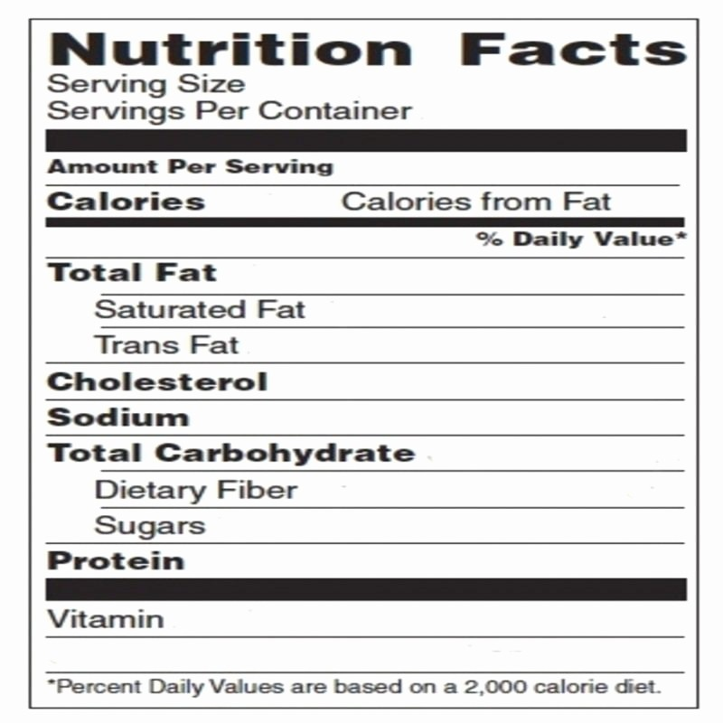 Nutrition Facts Label Template Excel Beautiful Blank Nutrition Label Template Excel top Label Maker