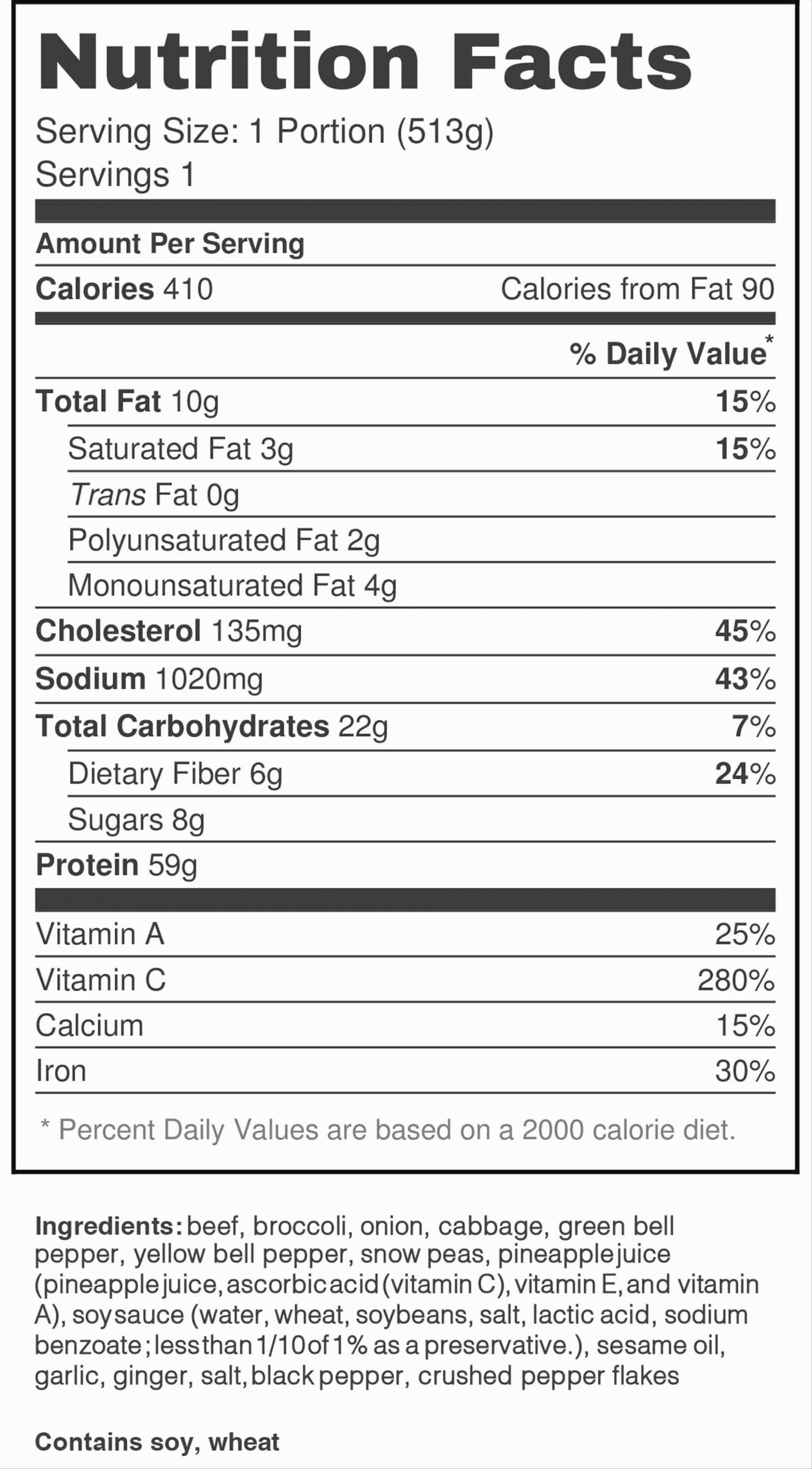 Nutrition Facts Label Template Excel Fresh why You Must Experience
