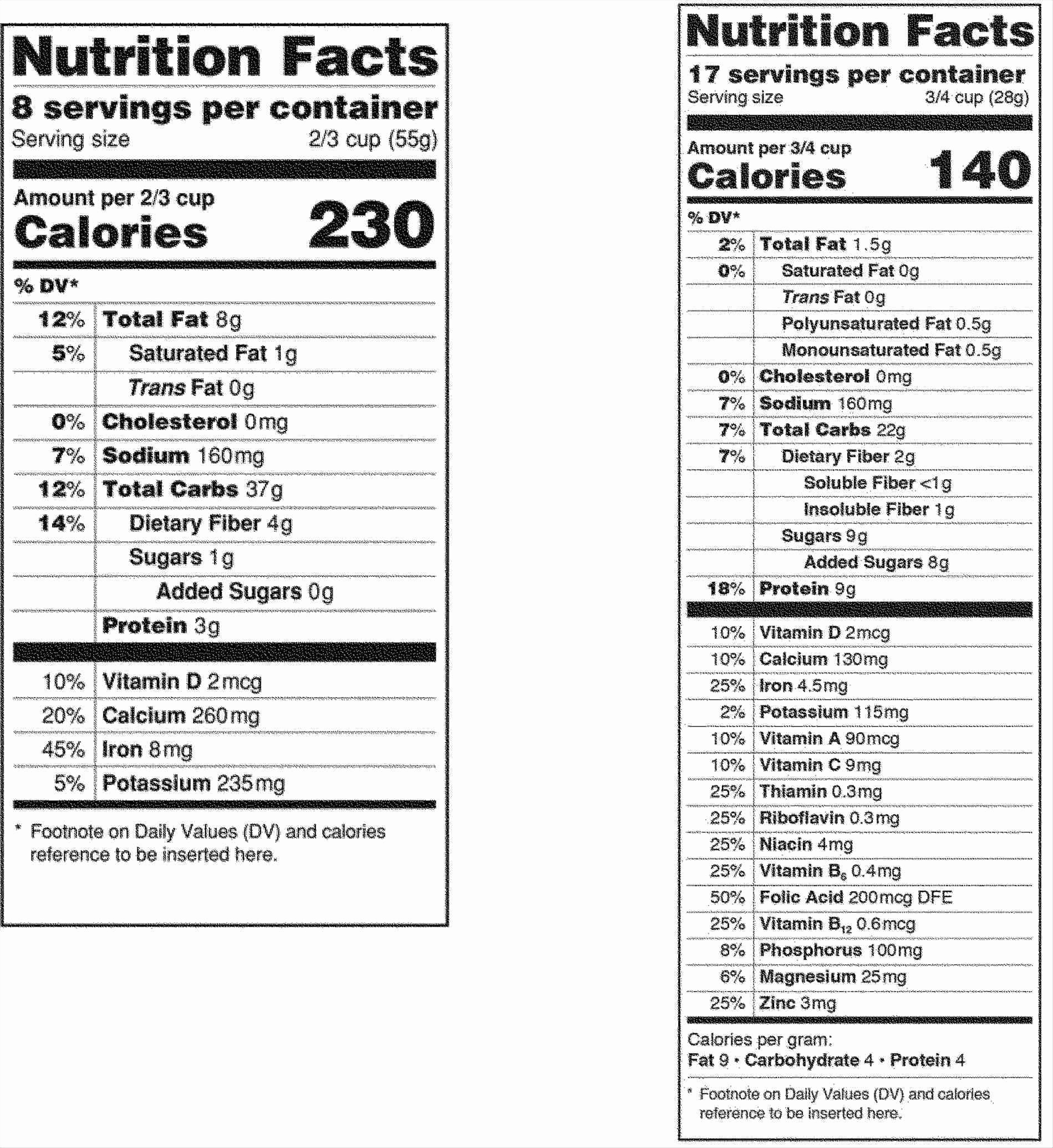 Nutrition Facts Label Template Excel Lovely Nutrition Label Template Blank