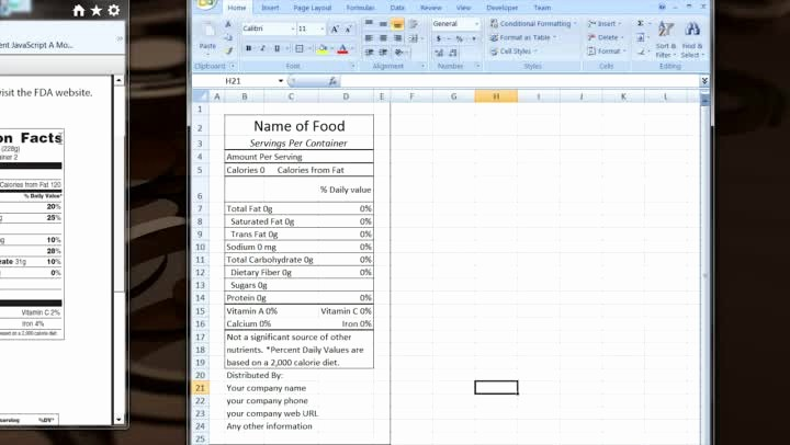 Nutrition Facts Template Excel Download Awesome How to Make Your Own Excel Template for Nutrition Facts