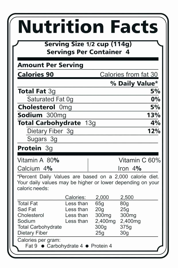 Nutrition Facts Template Excel Download Awesome Nutrition Fact Template Excel Nutrition Ftempo