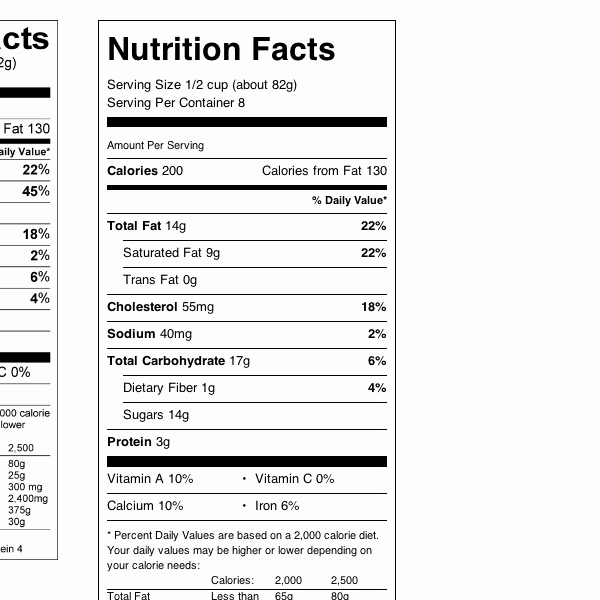 Nutrition Facts Template Excel Download Elegant Blank Nutrition Facts Label Template Nutrition Ftempo