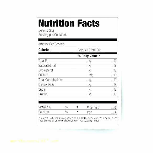 Nutrition Facts Template Excel Download New Vector Nutrition Facts Food Table Label Design Template