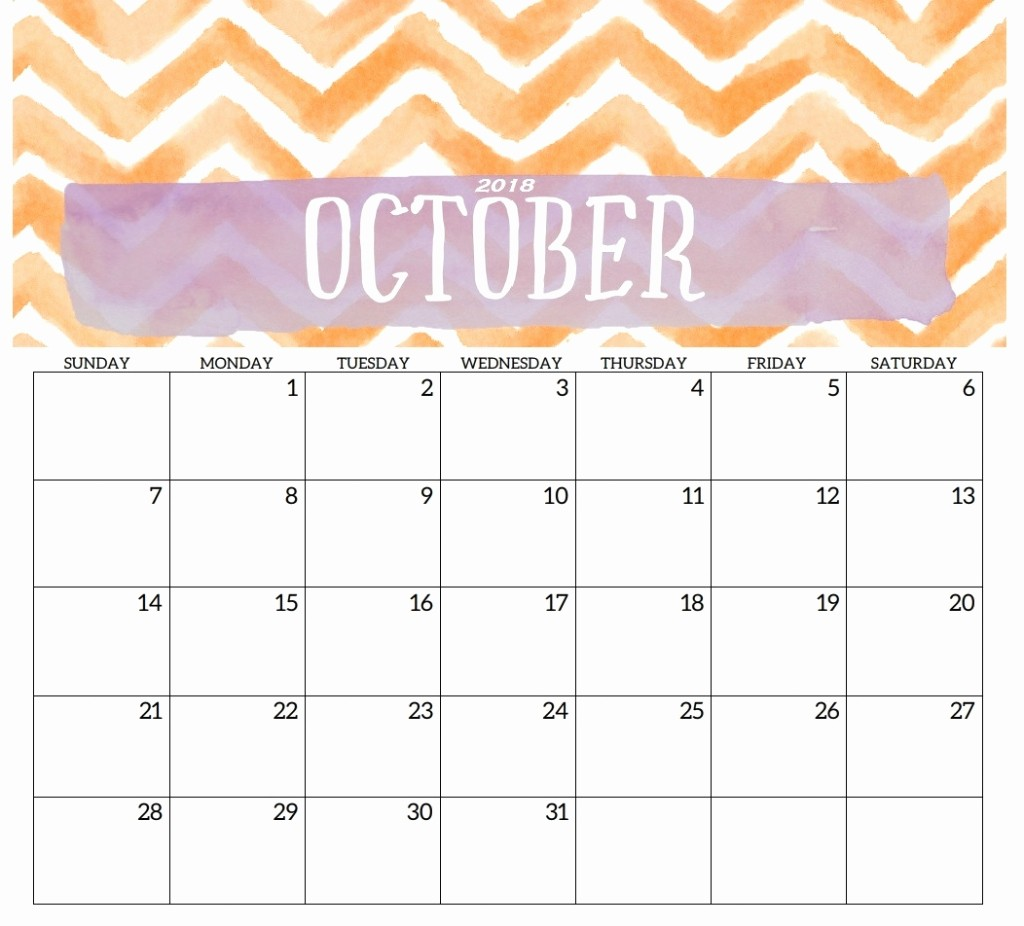 October 2018 Printable Calendar Word Beautiful October 2018 Calendar Word Excel Pdf