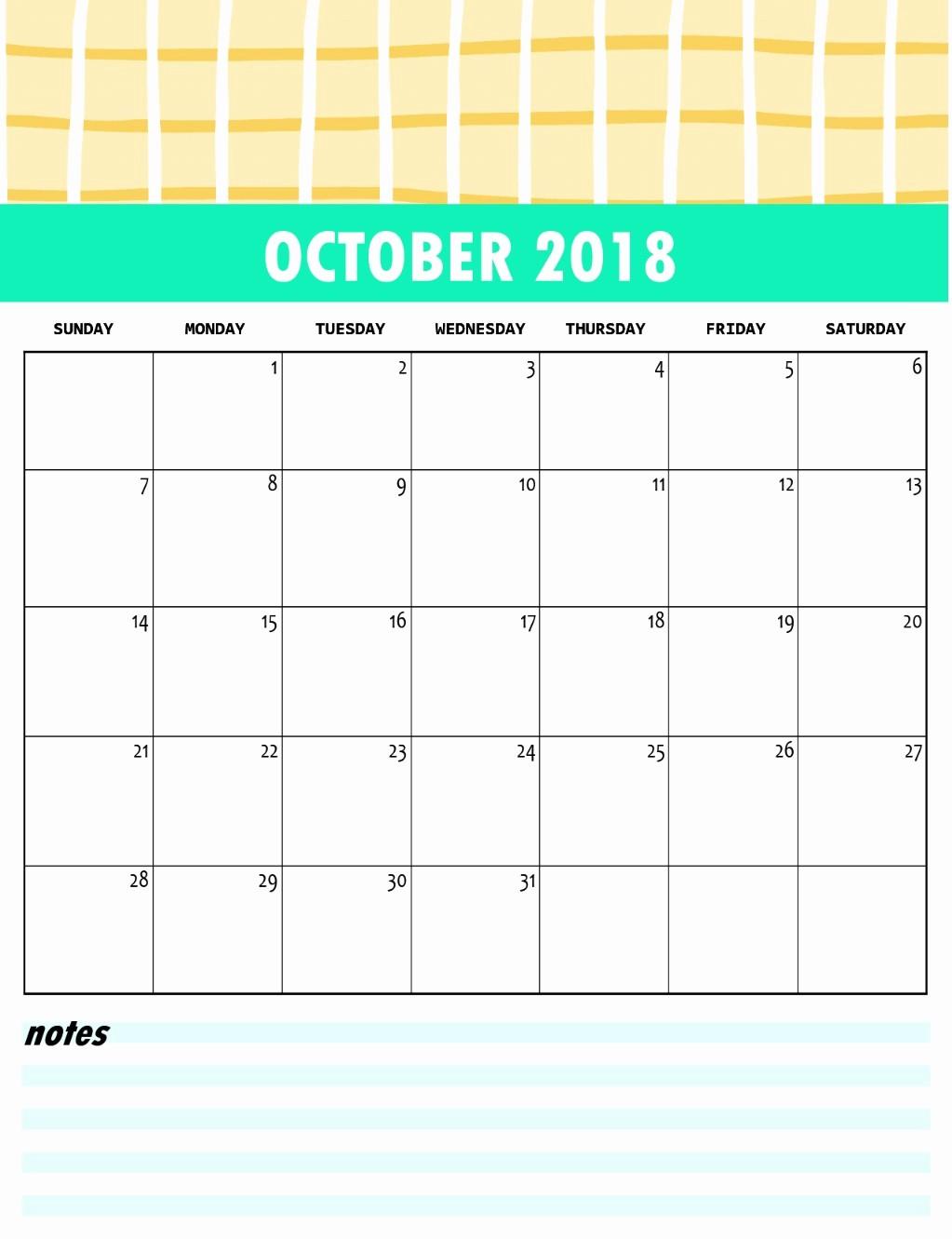 October 2018 Printable Calendar Word Fresh Download Pdf Excel Word Calendar October 2018