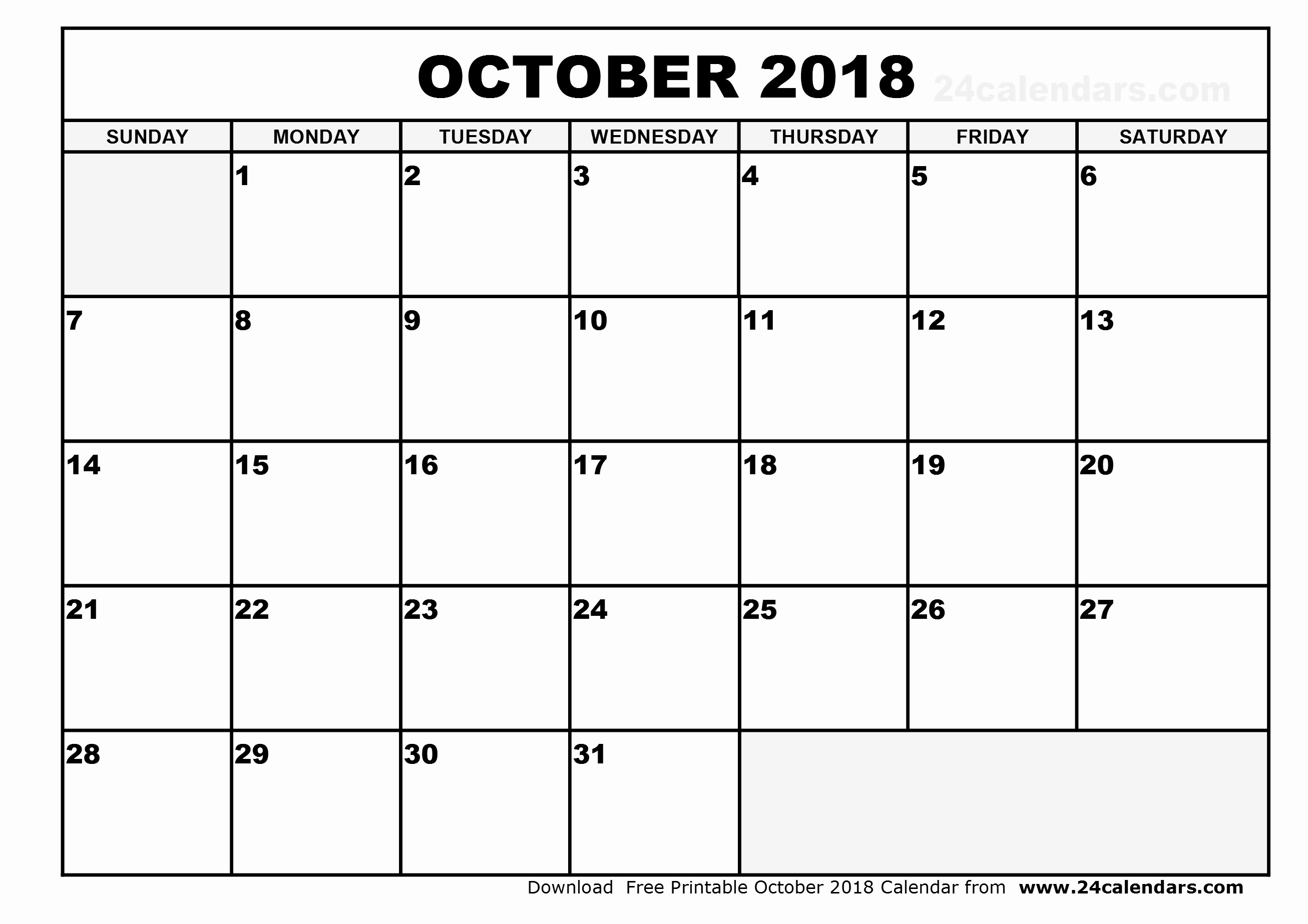October 2018 Printable Calendar Word Fresh October 2018 Calendar