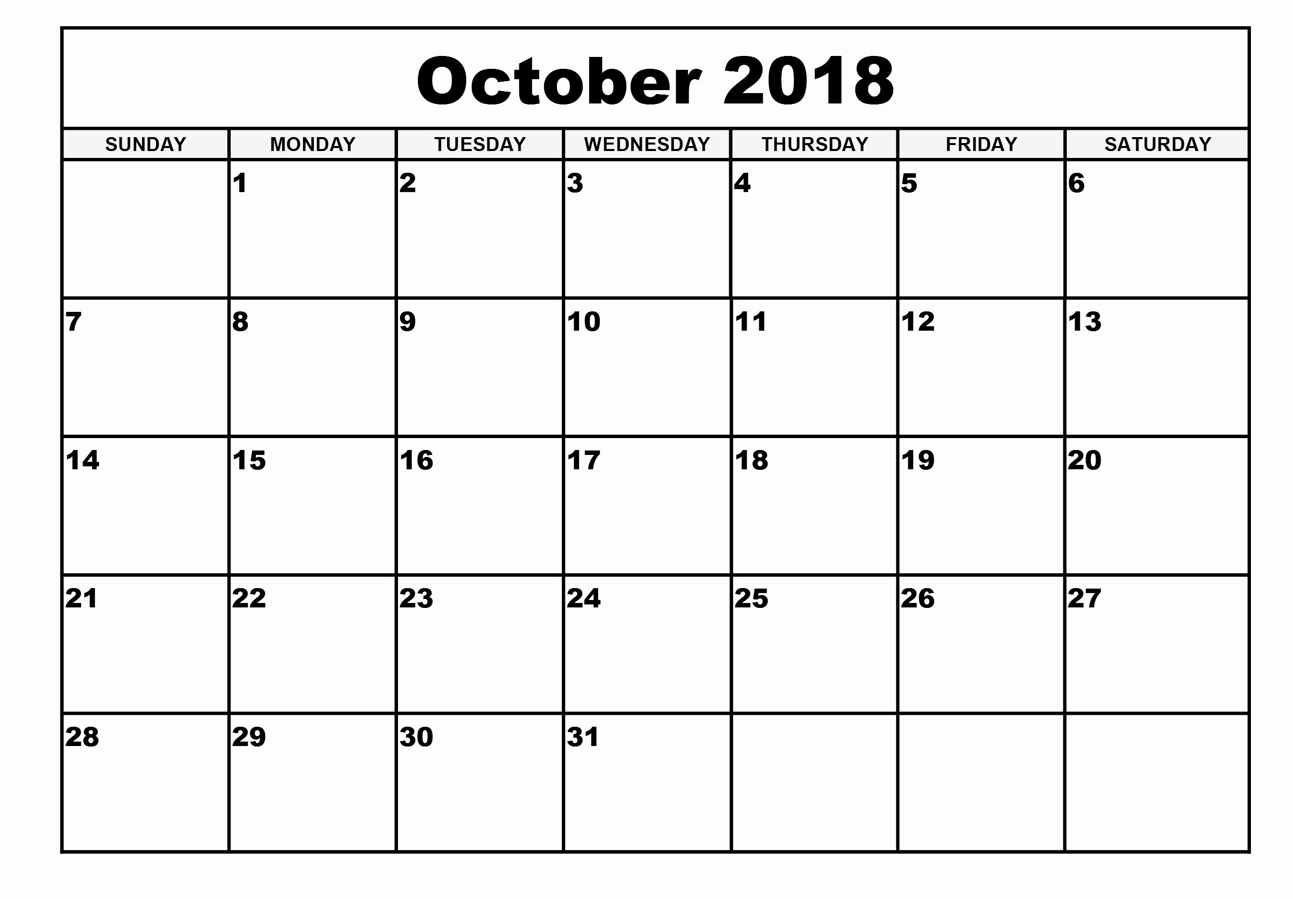 October 2018 Printable Calendar Word Luxury Quote October 2018 Calendar Printable Word Desktop