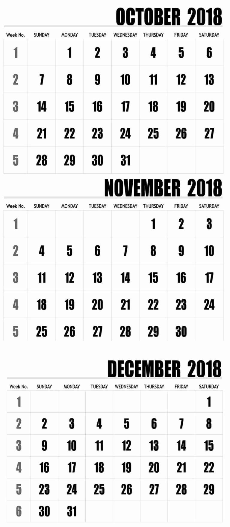 October 2018 Printable Calendar Word Unique Editable October 2018 Calendar Word