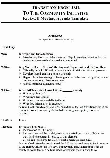 Off Site Meeting Agenda Template Best Of 2 Day Meeting Agenda Template Professional Layout