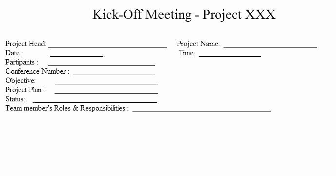 Off Site Meeting Agenda Template Inspirational Project Kick F Meeting Template Project Status Meeting