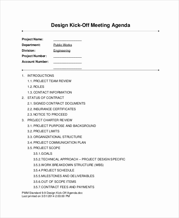 Off Site Meeting Agenda Template New Kick F Agenda Samples 6 Free Word Pdf format
