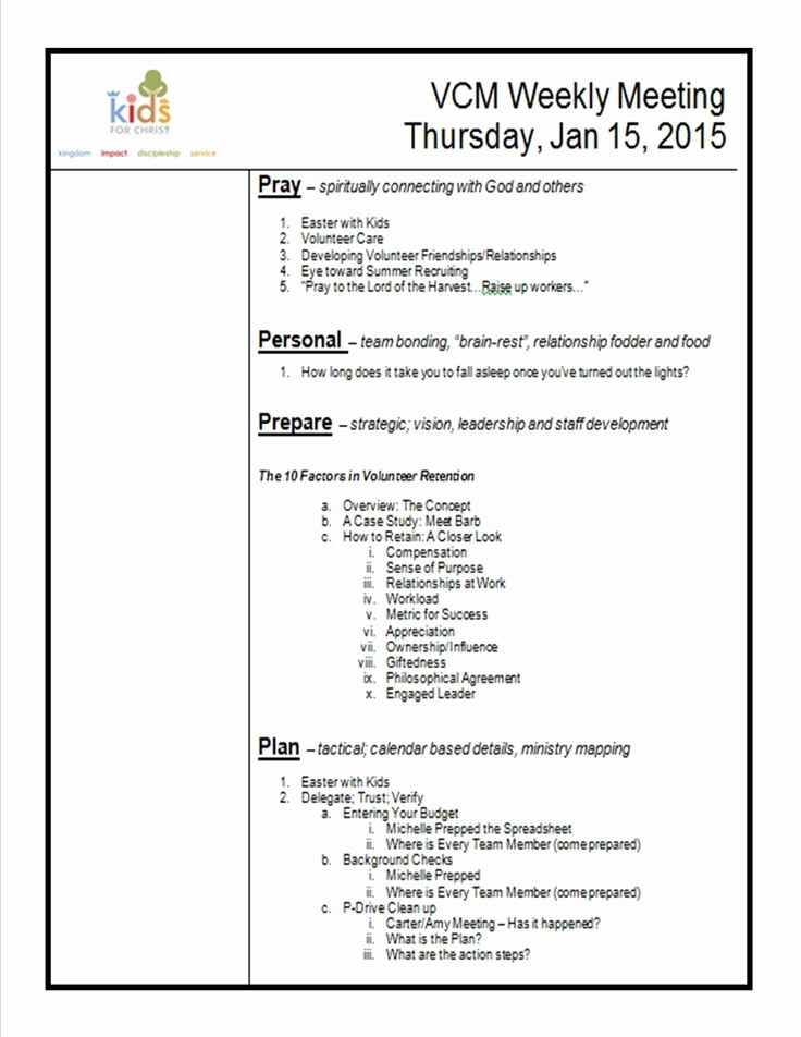 Off Site Meeting Agenda Template Unique Pin by Susan Nelson On Children S Ministry Ideas
