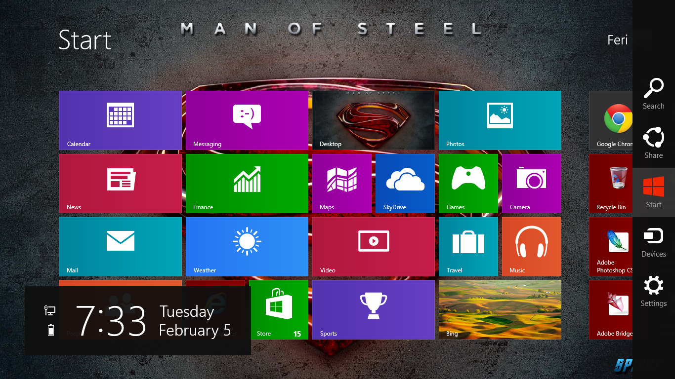 Office 2013 Background theme Download Elegant Superman Man Steel 2013 theme for Windows 8