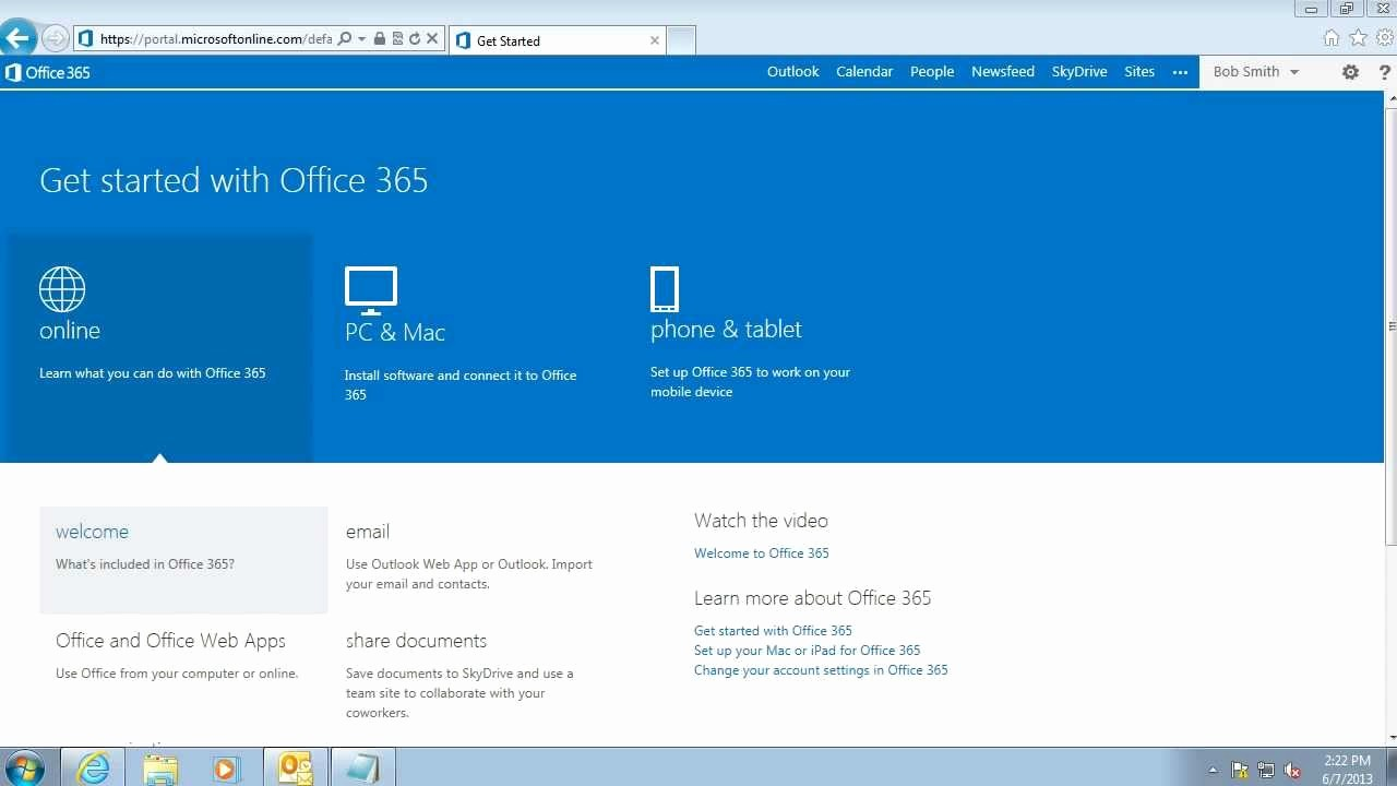 Office 365 Email Login Portal Inspirational Getting Started Fice 365 First Login and Portal Home