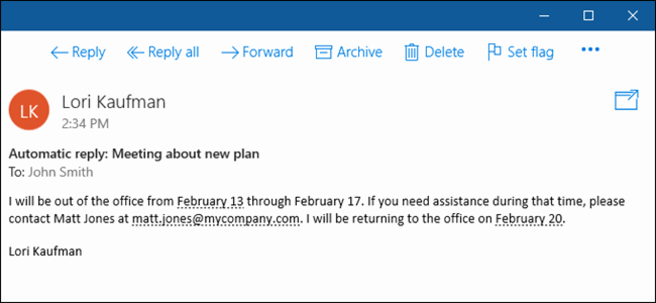 Office 365 Email Sign Up Awesome How to Set Up An Out Of Fice Reply In Windows 10 Mail