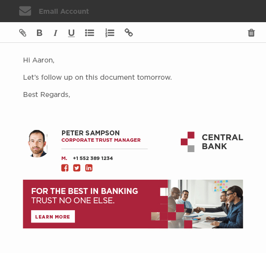 Office 365 Email Sign Up Luxury Fice 365 Email Signature with Logo and social