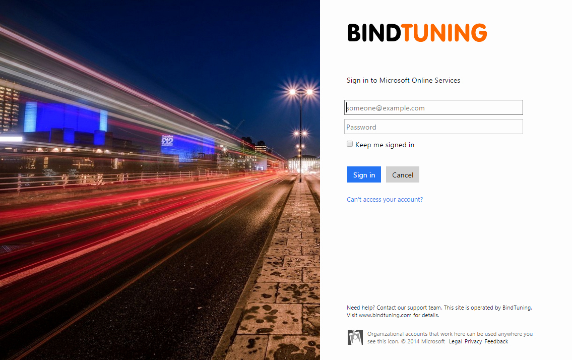 Office 365 Online Sign In Inspirational Customize Fice 365 Sign In Page Bindtuning Academy