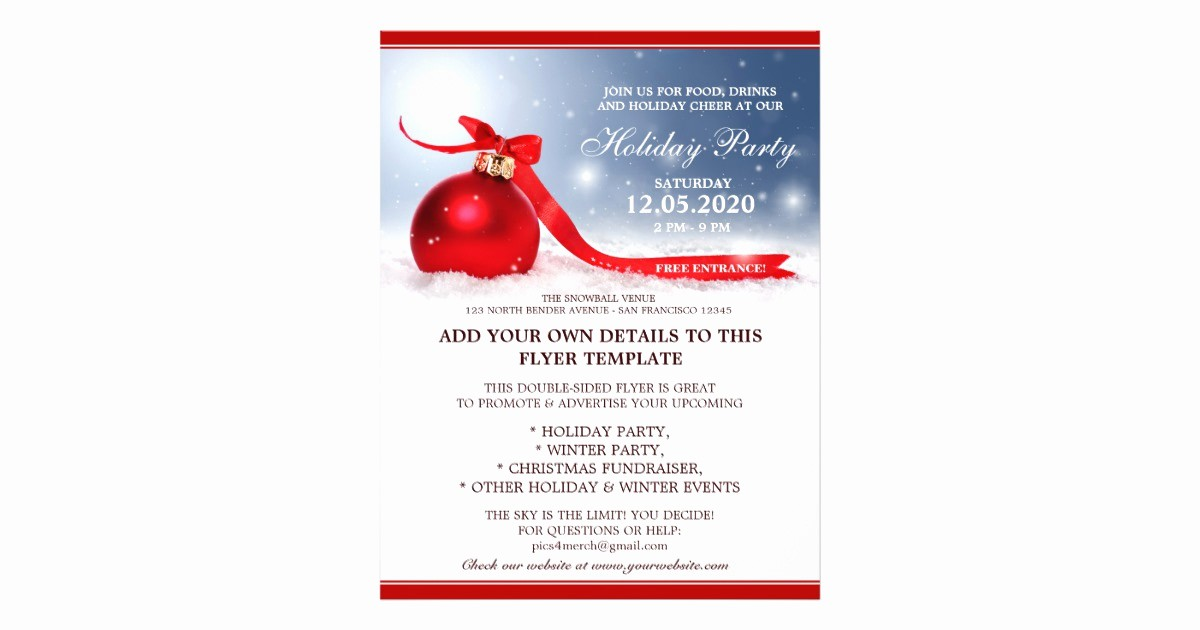 Office Christmas Party Flyer Templates Beautiful Holiday Party Announcement Christmas Open House Flyer