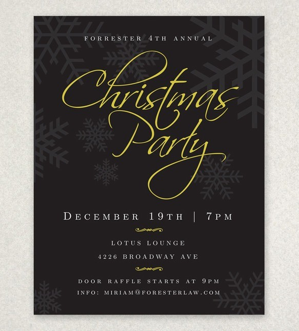 Office Christmas Party Flyer Templates Elegant Holiday Party Flyer