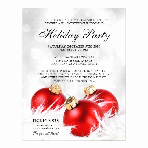 Office Christmas Party Flyer Templates Fresh Business Christmas Flyers Holiday Party Flyer