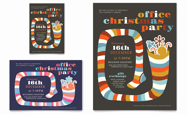 Office Christmas Party Flyer Templates Fresh Christmas Party Flyer & Ad Template Word & Publisher