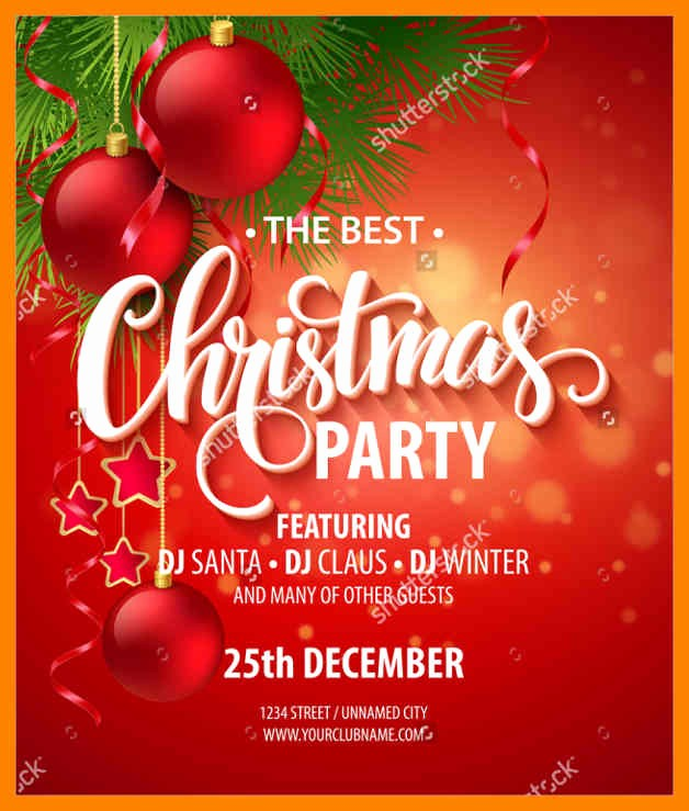 Office Christmas Party Flyer Templates Inspirational 7 Free Office Christmas Party Flyer Templates