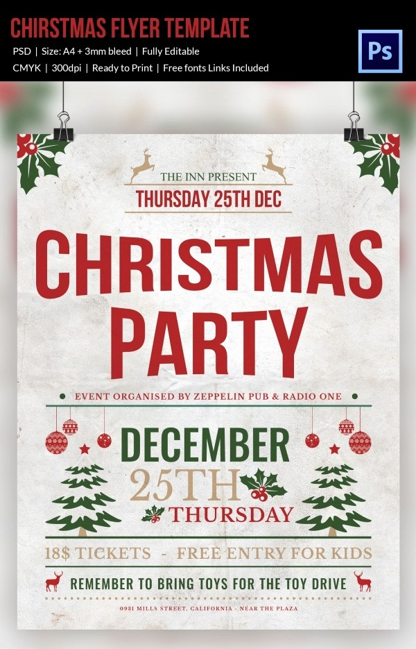 Office Christmas Party Flyer Templates Lovely 30 Christmas Flyer Templates Psd Vector format
