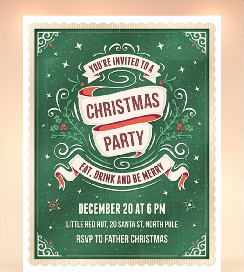 Office Christmas Party Flyer Templates Luxury Christmas Party Flyer Templates & Psd Designs