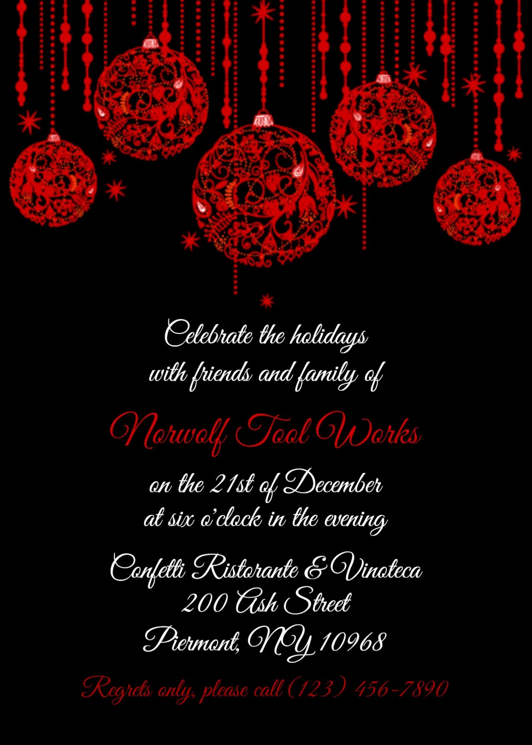 Office Christmas Party Flyer Templates Luxury Fice Christmas Party Invitations