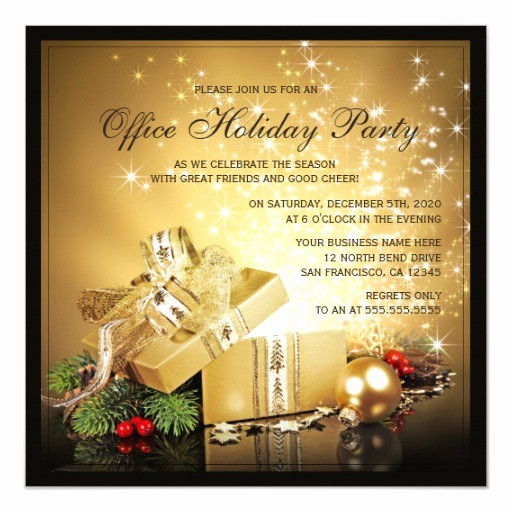 Office Christmas Party Flyer Templates Luxury Fice Holiday Party Invitations