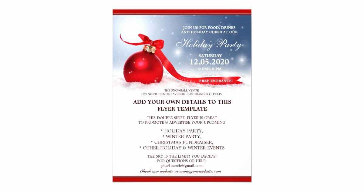 Office Christmas Party Flyer Templates Luxury Pany Business Fice Christmas Party Flyers