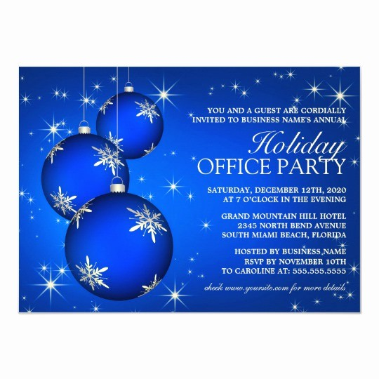Office Christmas Party Flyer Templates Unique Corporate Holiday Party Invitation Template