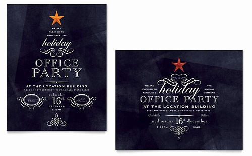 Office Christmas Party Free Download Awesome Invitations Templates Word Publisher Powerpoint