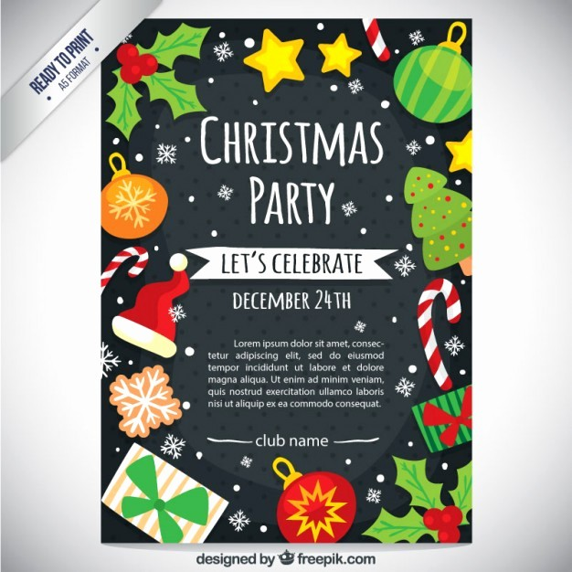 Office Christmas Party Free Download Best Of Cute Christmas Party Flyer Vector