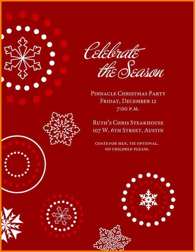 Office Christmas Party Free Download Elegant Holiday Party Template