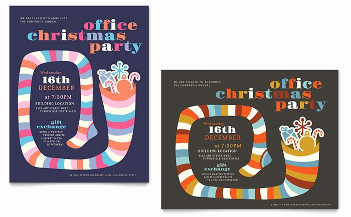 Office Christmas Party Free Download Inspirational Christmas Party Poster Design