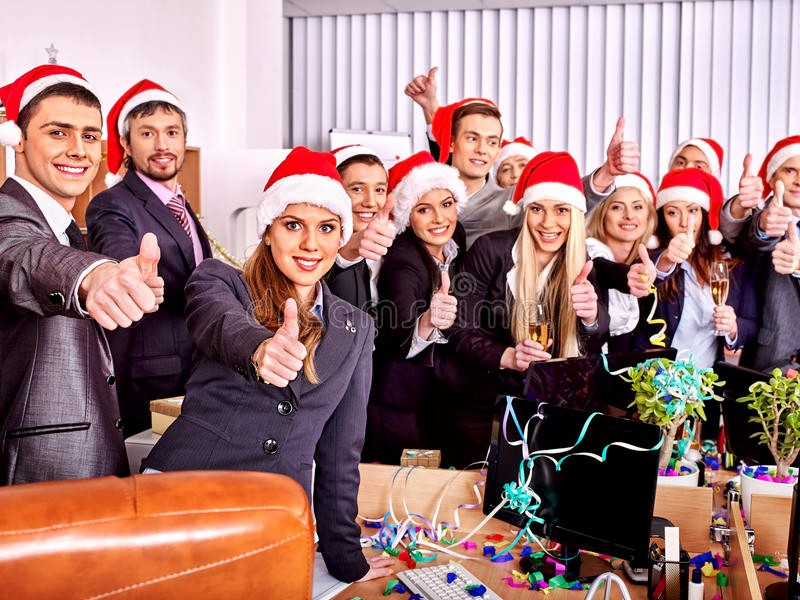 Office Christmas Party Free Download Luxury Business Group People at Xmas Party Stock Image
