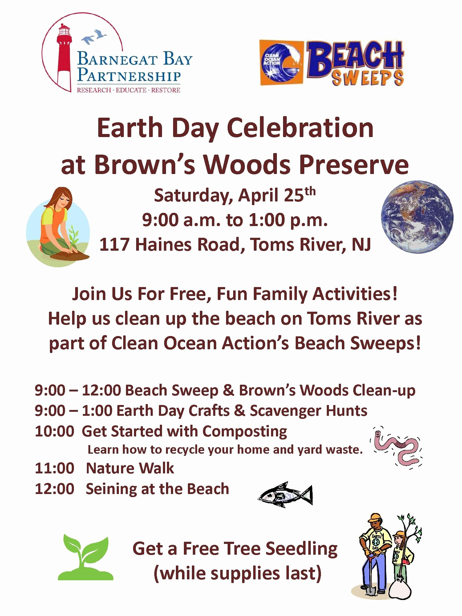 Office Clean Up Day Flyer Awesome Earth Day Celebration at Brown S Woods In toms River