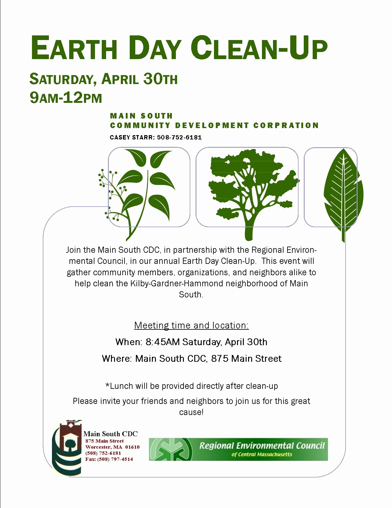 Office Clean Up Day Flyer Beautiful Main south Cdc