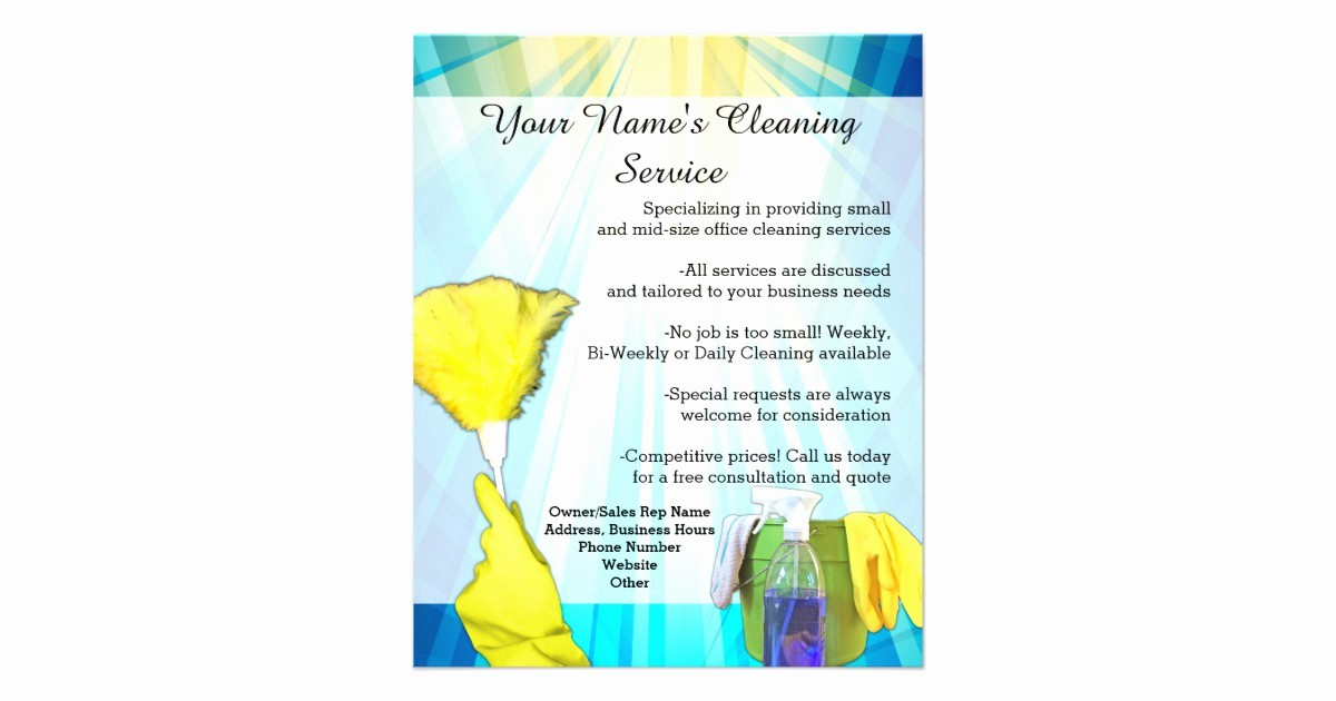 Office Clean Up Day Flyer Beautiful Vibrant Ray Business Fice Cleaning Service Flyer