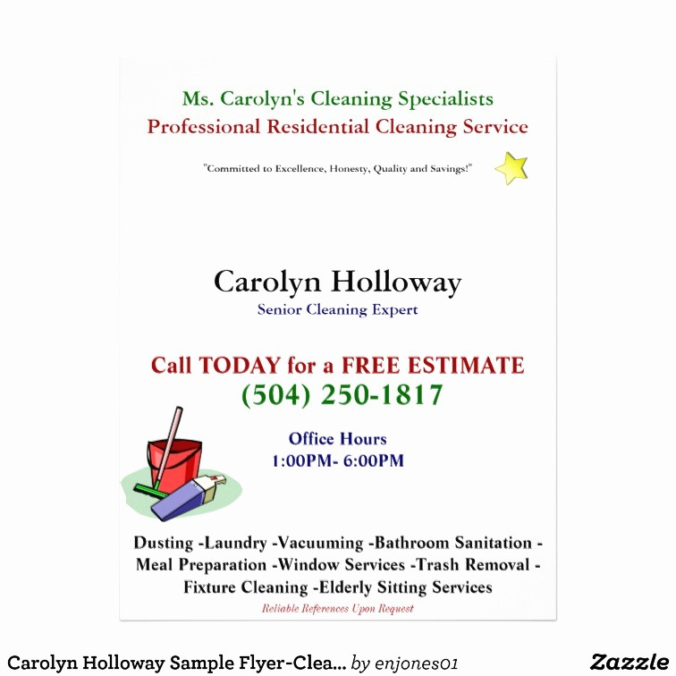 Office Clean Up Day Flyer Best Of Carolyn Holloway Sample Flyer Cleaning Services Flyer