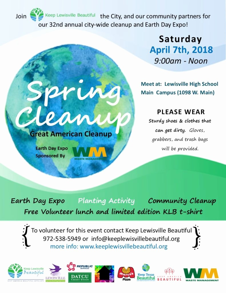 Office Clean Up Day Flyer Best Of Spring Cleanup Keep Lewisville Beautiful