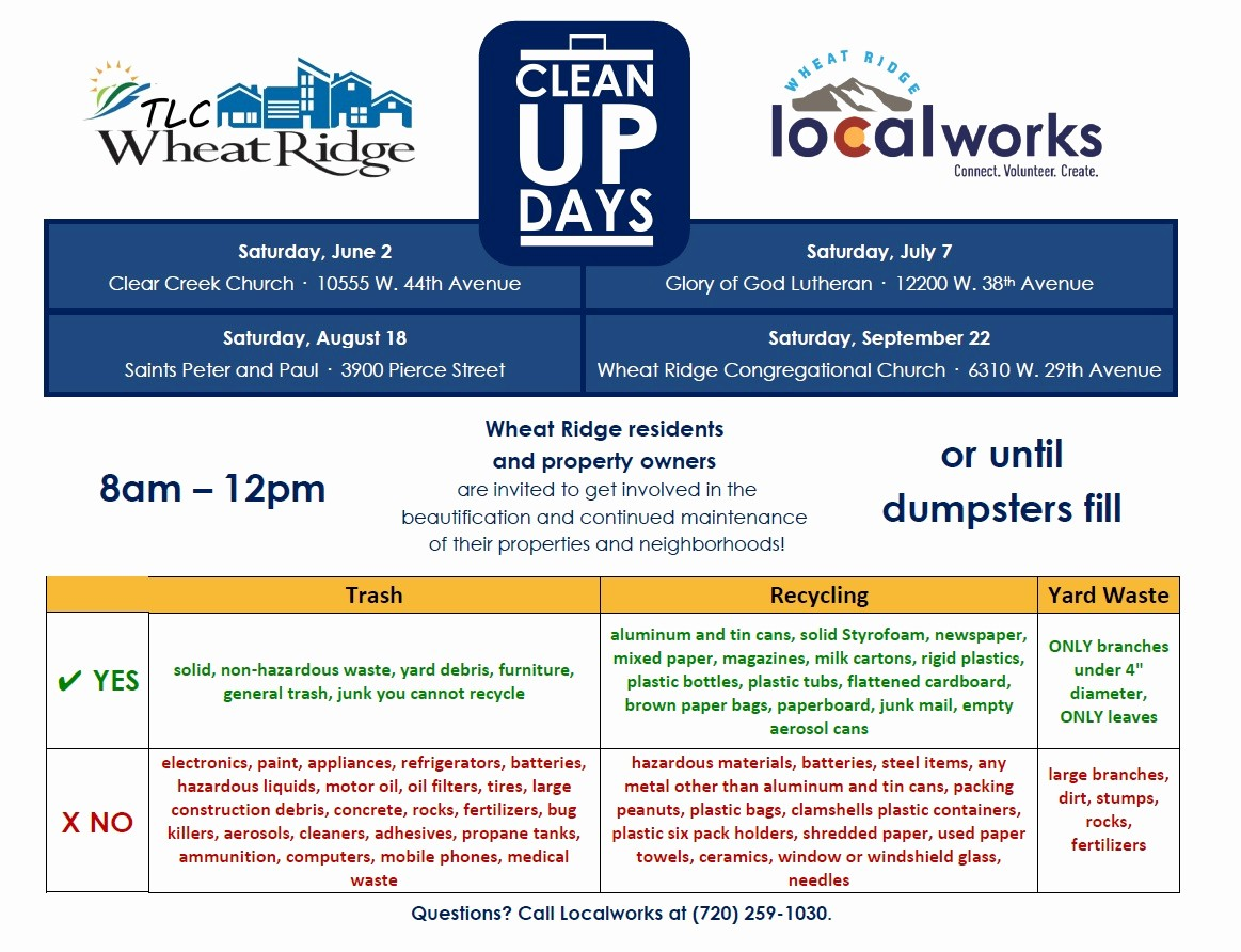 Office Clean Up Day Flyer Elegant Clean Up Days – We are Localworks