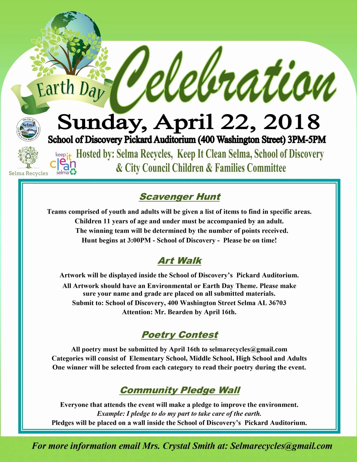 Office Clean Up Day Flyer Elegant Jackson – Earth Day Flyers – the City Of Selma Alabama