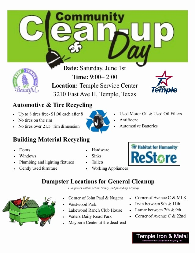Office Clean Up Day Flyer Fresh Cleanup Flyer