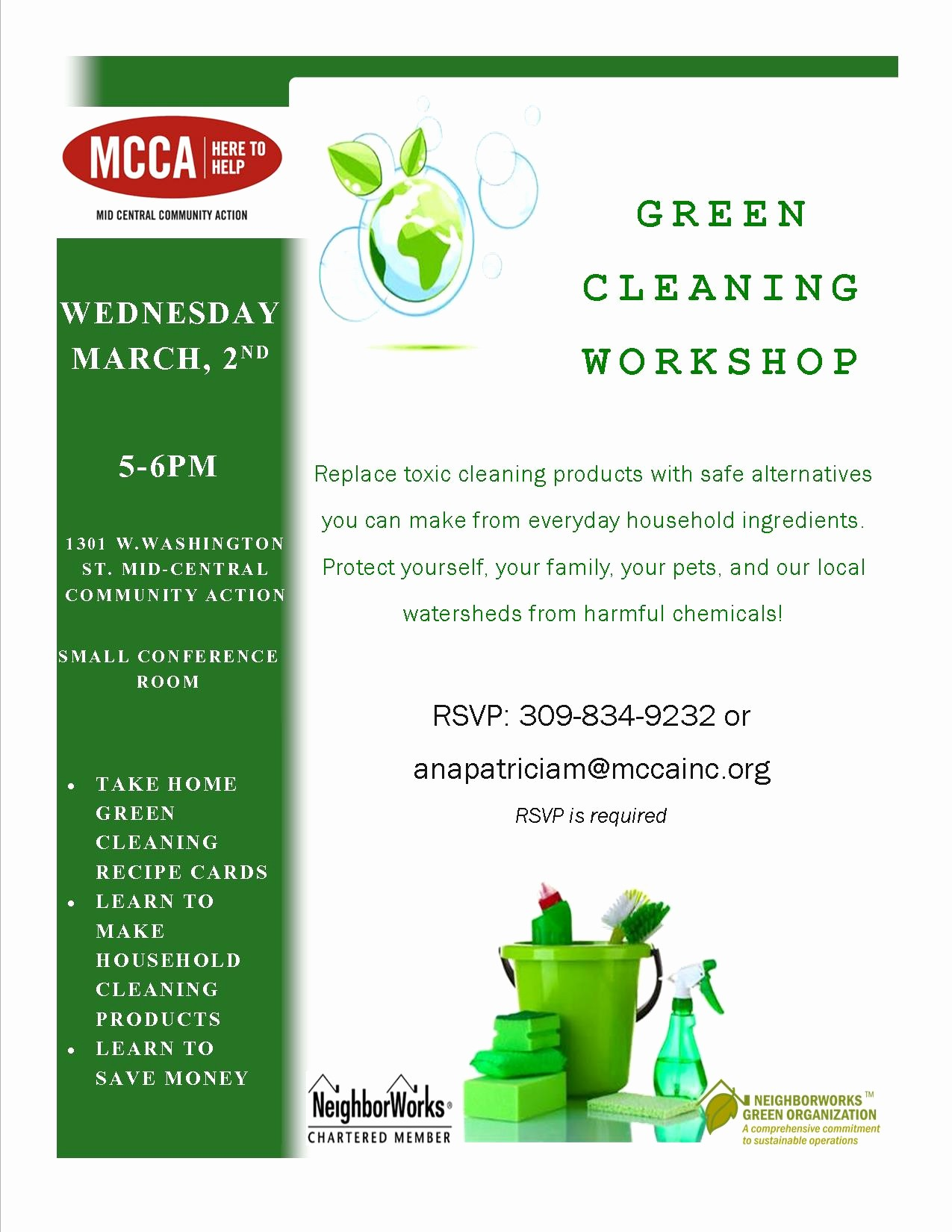Office Clean Up Day Flyer Inspirational Green Cleaning Workshop – Ecology Action Center